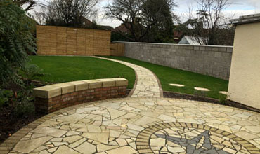 Landscaped garden at rear of HMO to rent in Weston Super Mare
